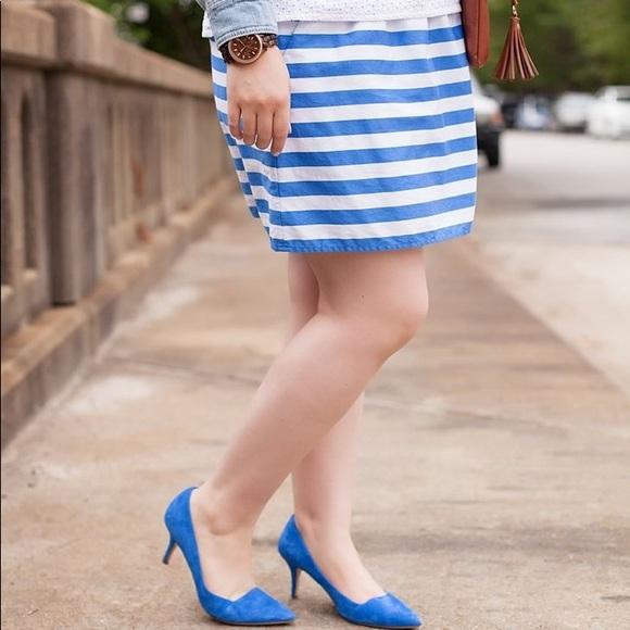 Lilly Pulitzer Dresses & Skirts - Lilly Pulitzer Blue Stripe Mimosa Mini Skirt